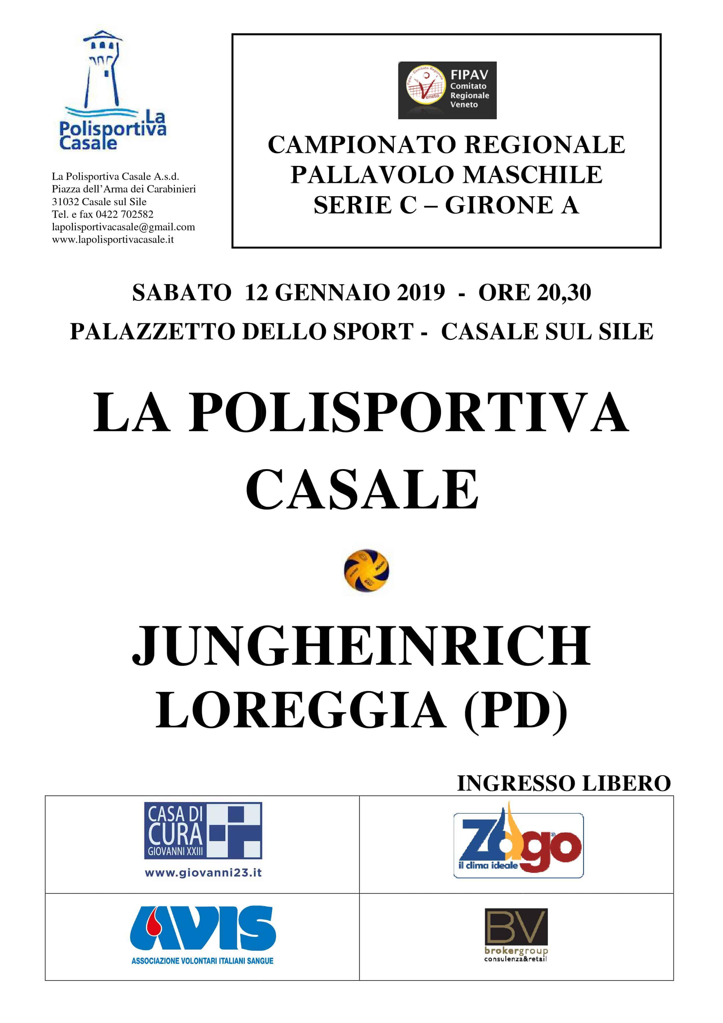 Fipav Veneto Calendario.La Polisportiva Casale Volley
